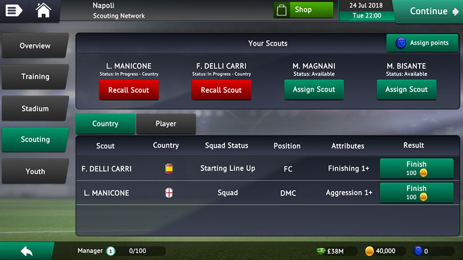 Soccer Manager 2019 Global Scouting Network