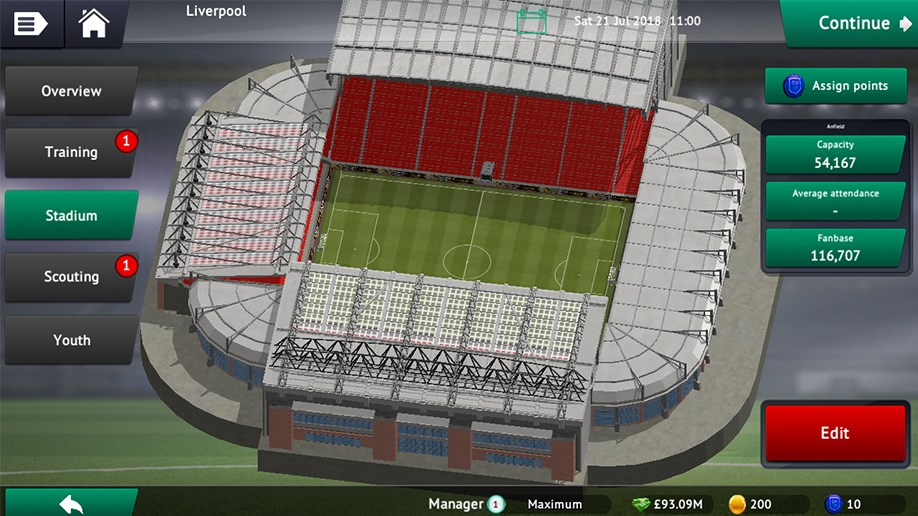 Soccer Manager 2019 Build The Ultimate Stadium