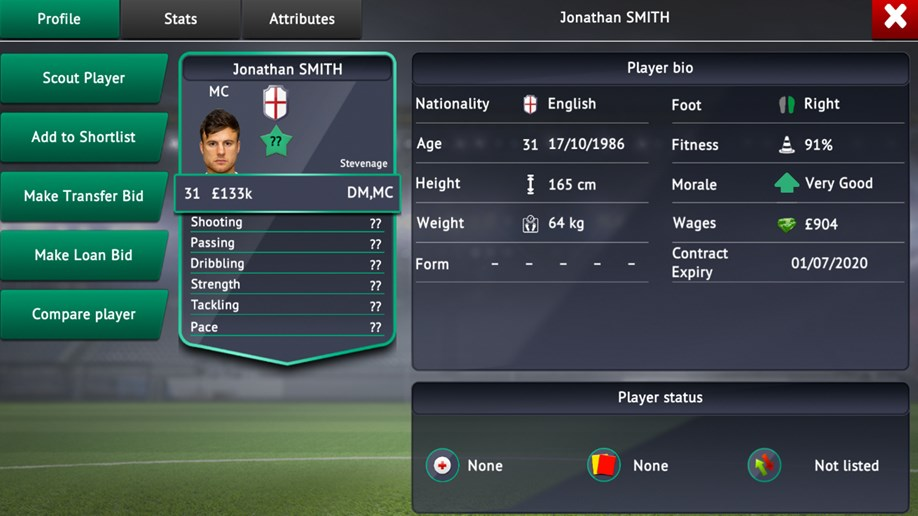 Soccer Manager 2019 Realistic Transfer System